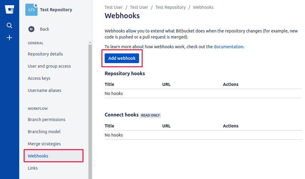 Add Bitbucket Webhooks