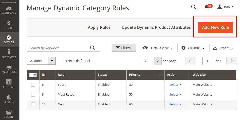 Magento 2 add new rule
