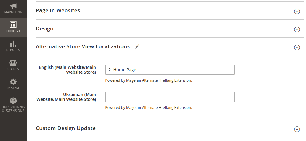 Alternate Tags for Magento 2 CMS Page