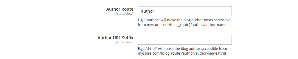 Blog Author Page Route