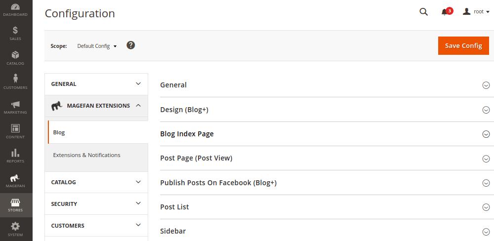 Blog Configuration in Magento 2