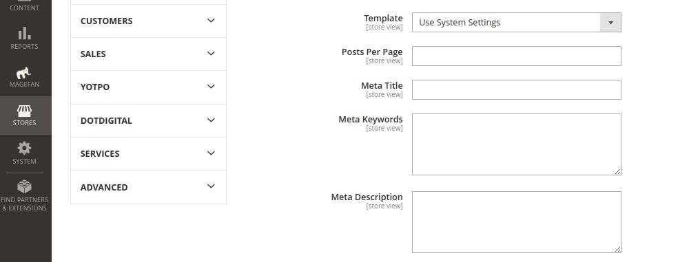 Blog Index Page Configuration