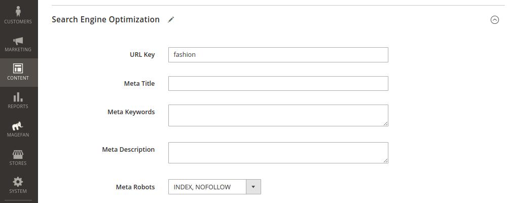 Blog Tag Page Metadata
