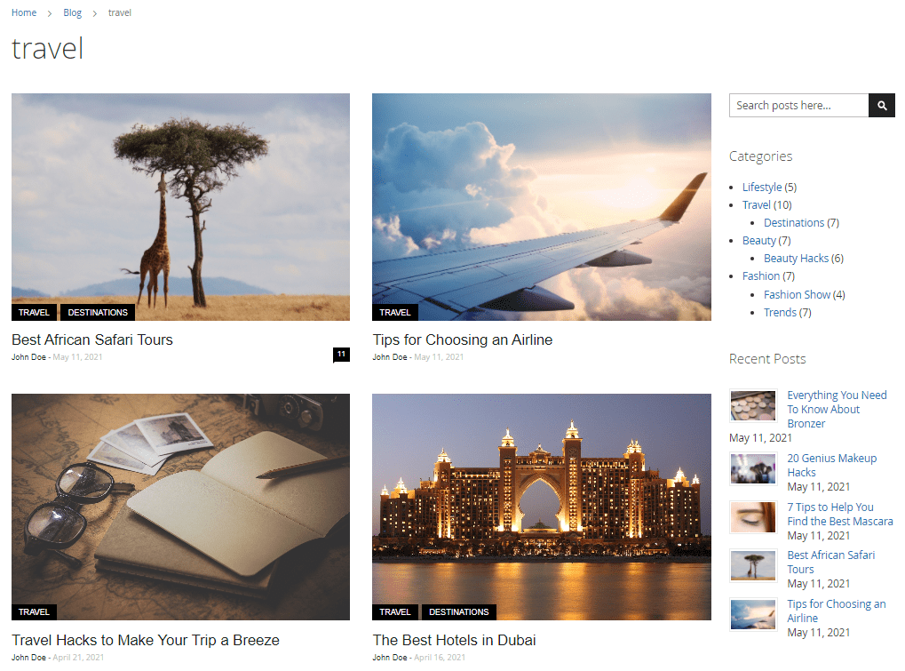 Blog Tag Page