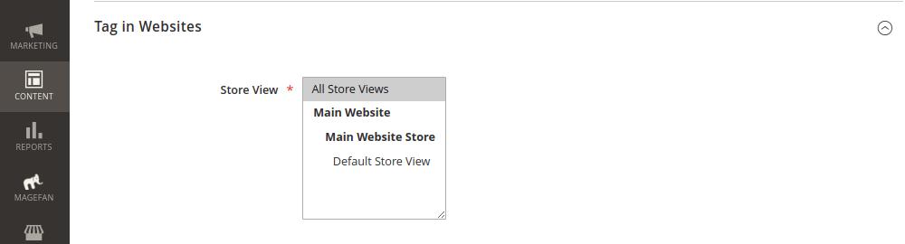 Blog Tags per Website