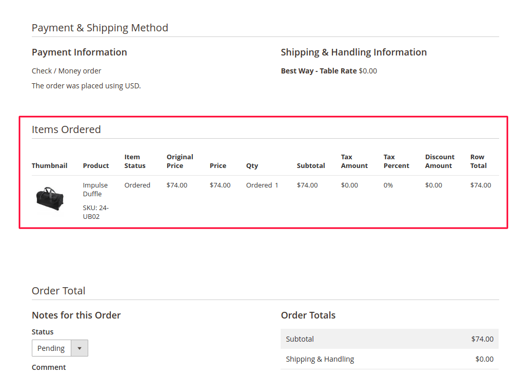 Bought Products in Magento 2 Order Grid