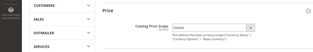 Catalog Price Scope in Magento 2