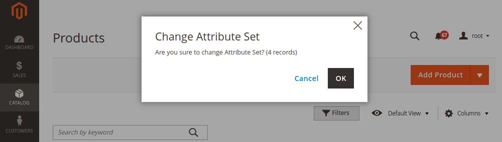 Change Attribute Set in Magento 2