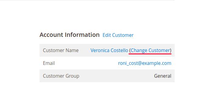Change Order Customer in Magento 2