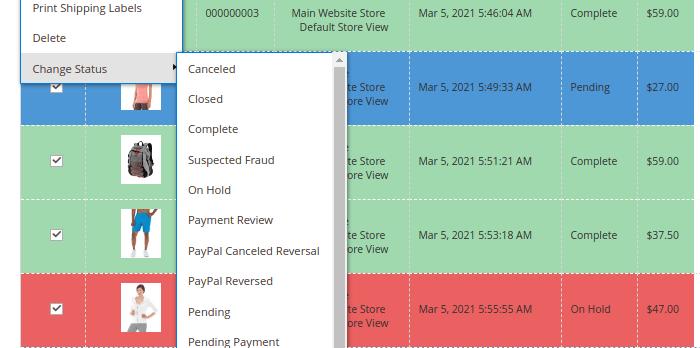 Change Order Status in Magento 2