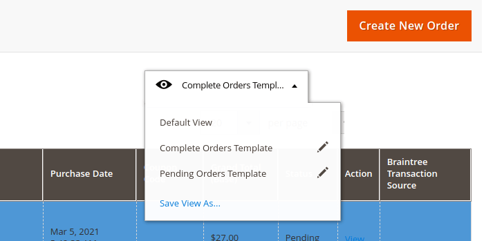 Create Order Grid Templates in Magento 2