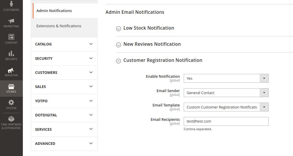 Customer Registration Email Notification in Magento 2