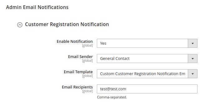 Customer Registration Notification in Magento