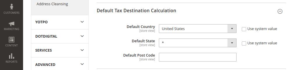 Default Tag Destination Calculation