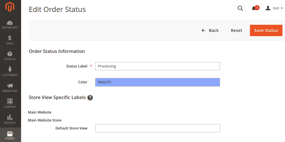Edit Order status Color in Magento 2
