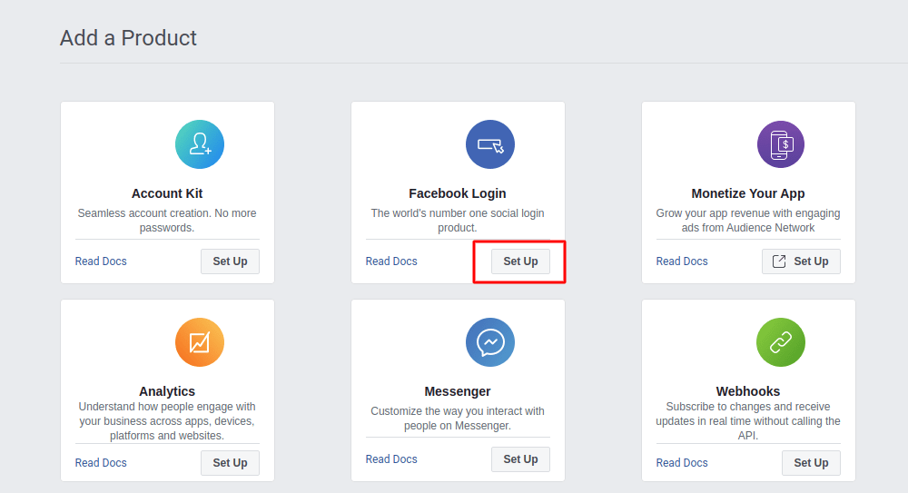 Facebook add product