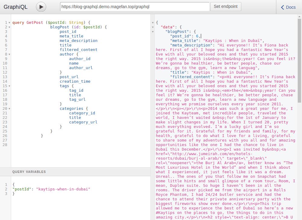 Post graphql test