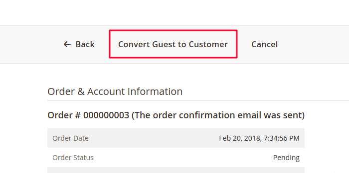 Guest to Customer in Magento 2