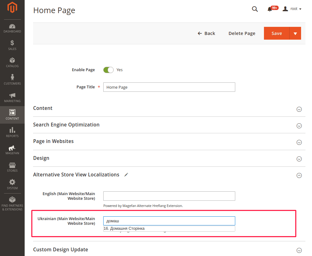 Hreflang Tags for Homepage in Magento 2