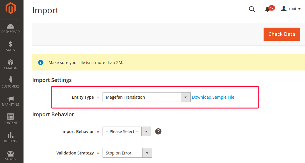 Import Translations in Magento 2