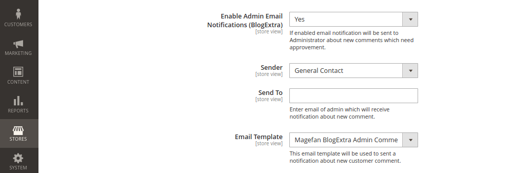 Magento 2 Admin Email Notification