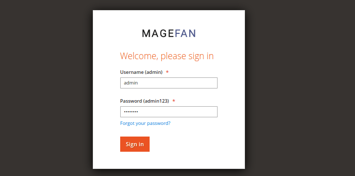 Magento 2 Admin Login Logo