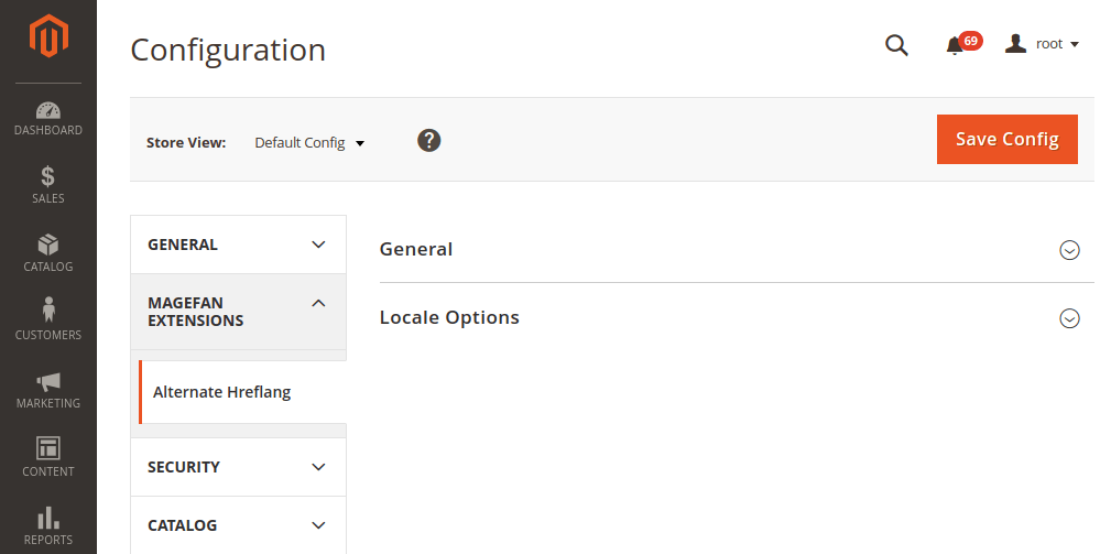 Magento 2 alternate hreflangs section