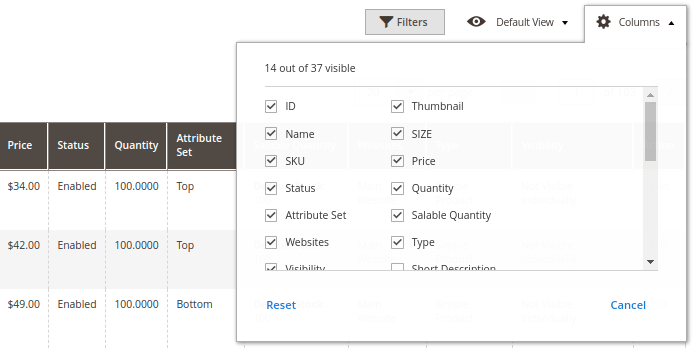Magento 2 Product Attribute Filter