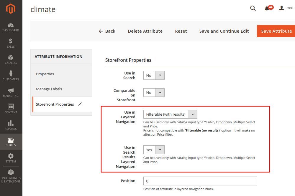 Magento 2 Attribute Storefront Attributes