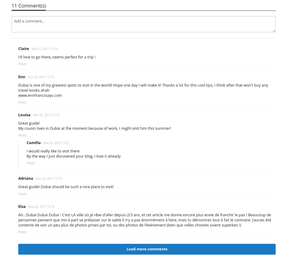 Magento 2 Blog Comments