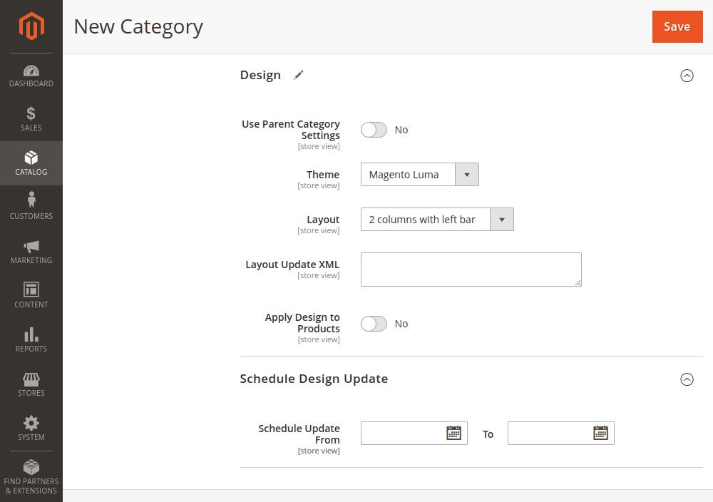 Magento 2 category design