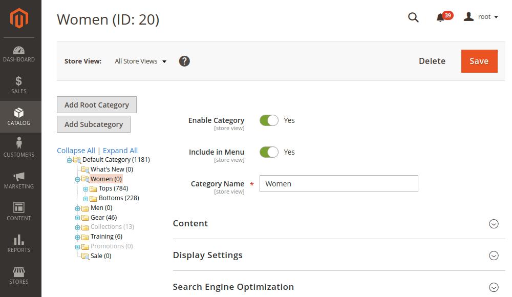 Magento 2 Category