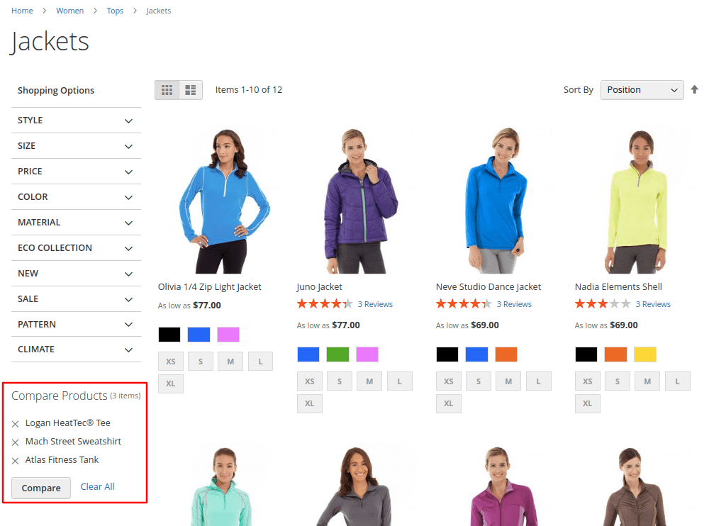 Magento 2 Compare Products