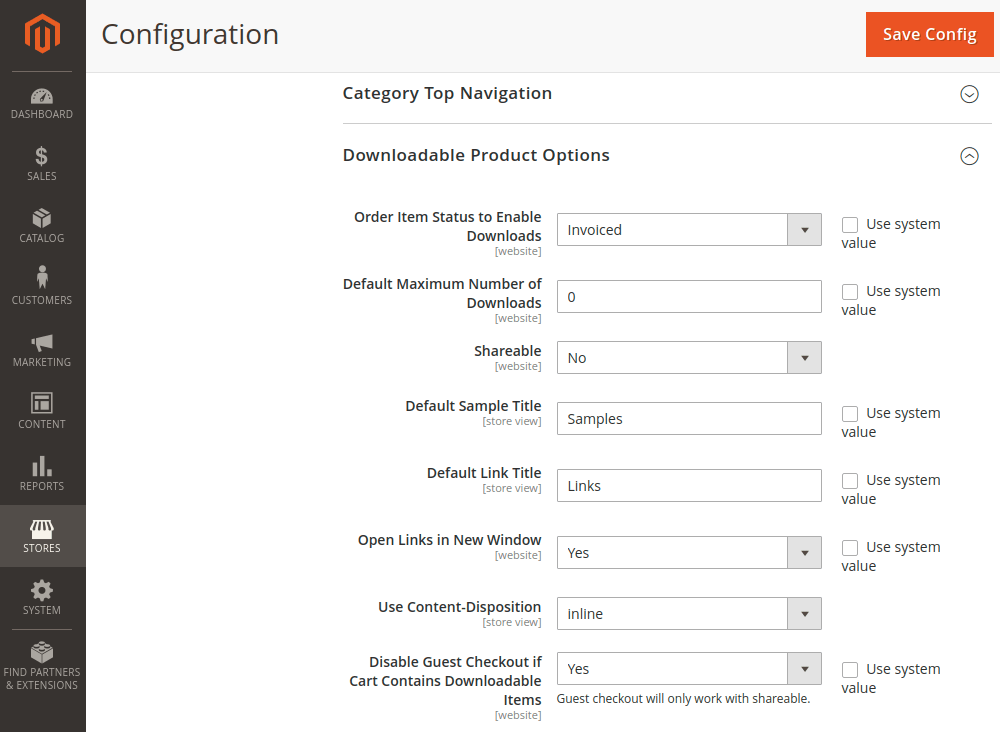 Magento 2 Downloadable Product Options
