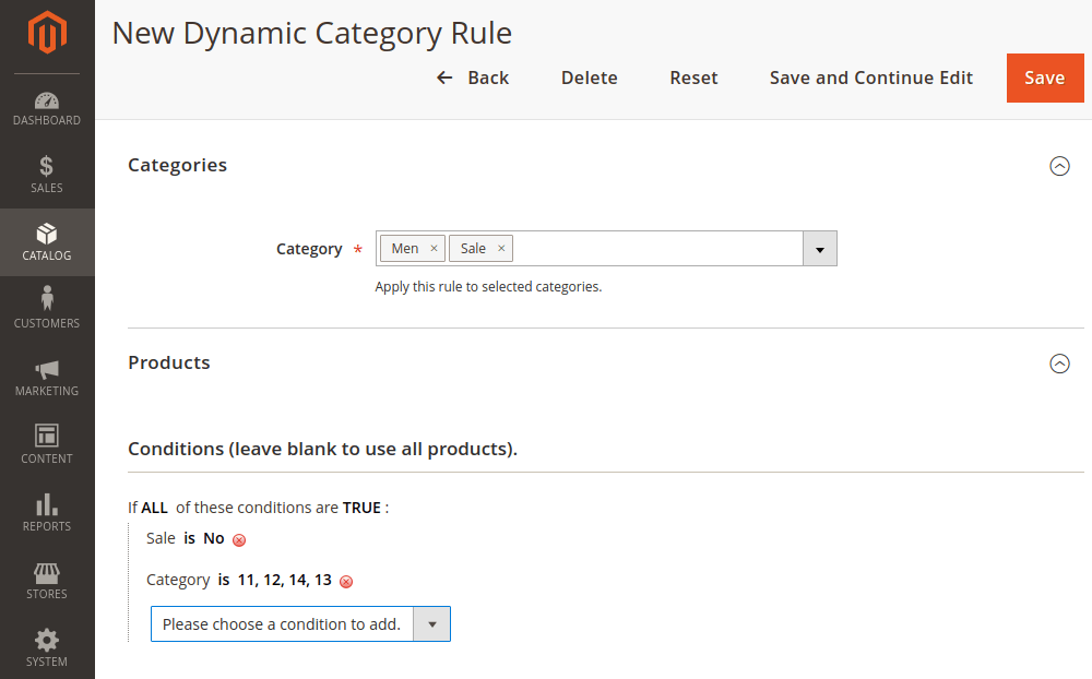 Magento 2 Dynamic Category Conditions