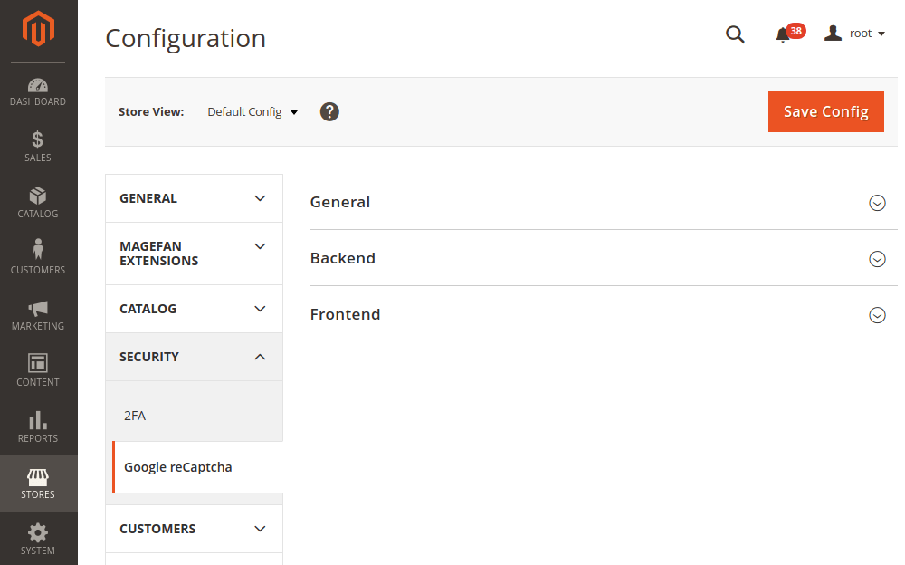 Magento 2 Google ReCaptcha Configuration