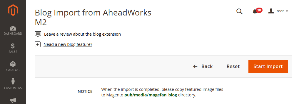 Magento 2 import from aheadworks m2