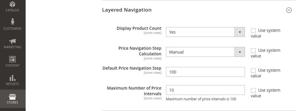 Magento 2 Layered Navigation Price
