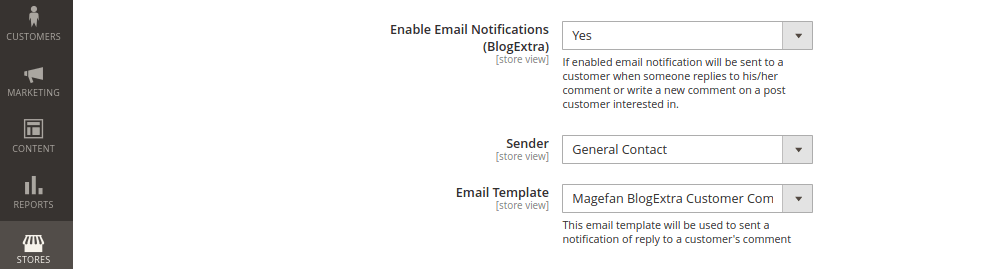 Magento 2 Blog Comments Configuration