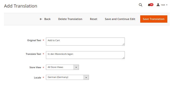 Magento 2 Magefan Translation