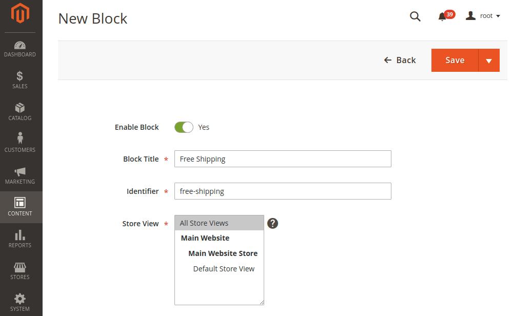 Magento 2 New CMS Block