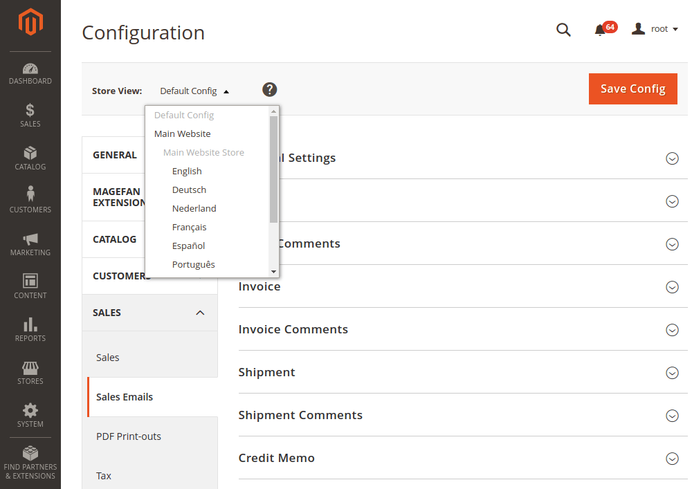 Magento 2 email template configuration