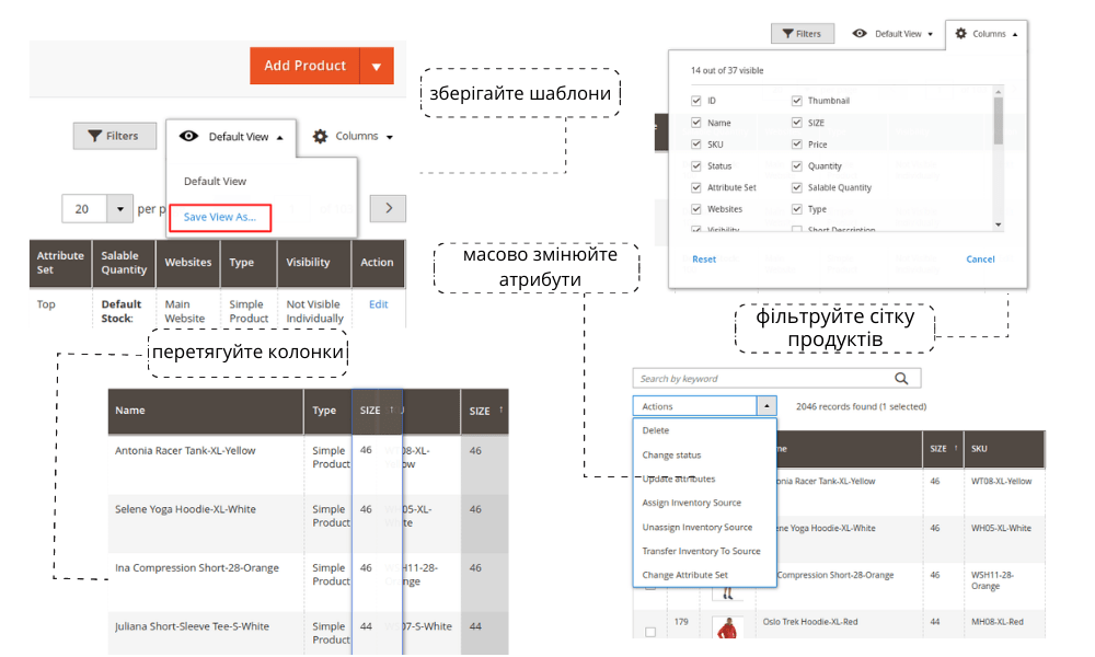 Magento 2 Prouct Grid Editor