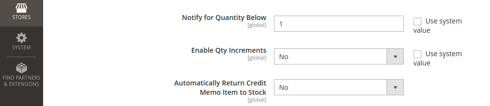 Magento 2 Product Stock Option