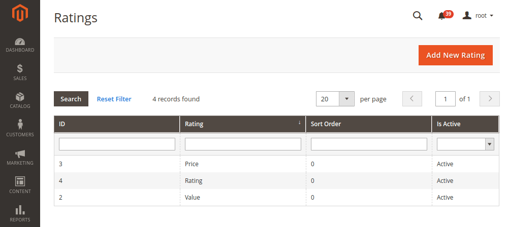 Magento 2 Ratings