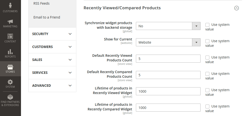 Magento 2 Recently Viewed Compared Products