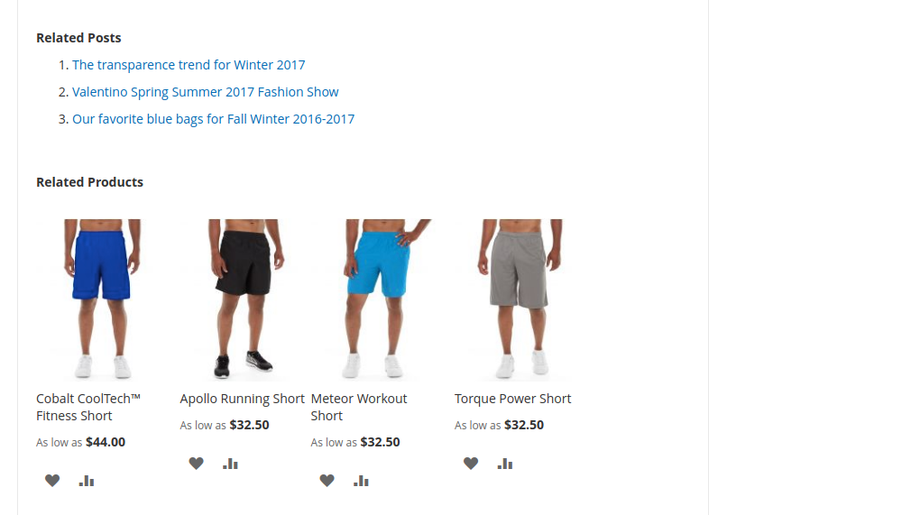 Magento 2 related posts and products