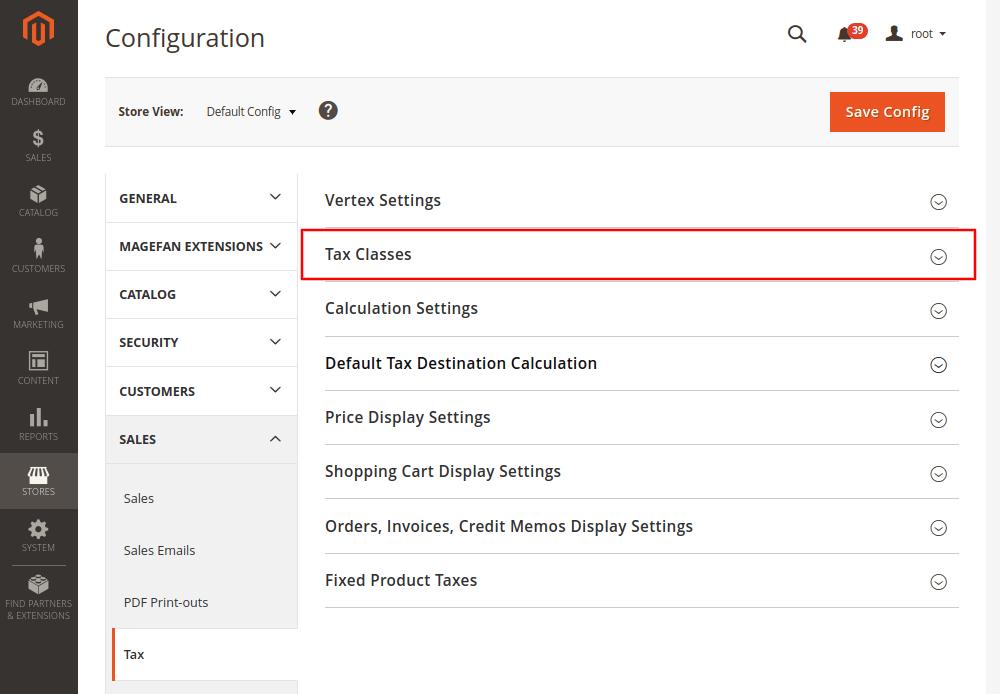 Magento 2 Sales Configuration