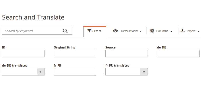 Magento 2 Translations Filters