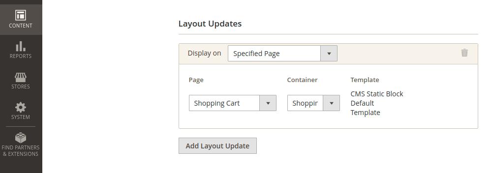 Magento 2 Widget Layout Updates